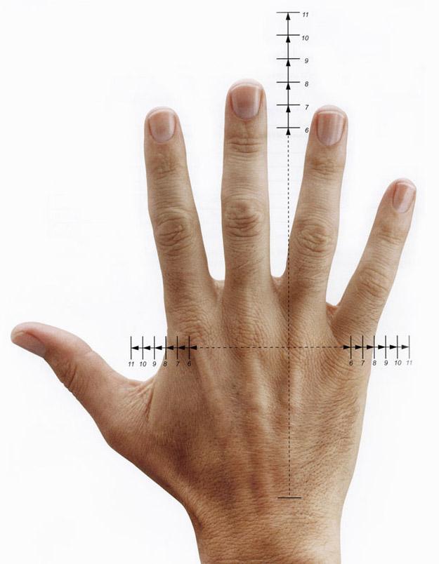Handschuhgrößen nach CE Norm