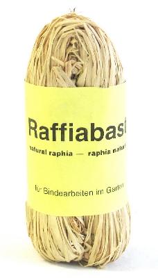 Raffia-Naturbast Docke a 50g