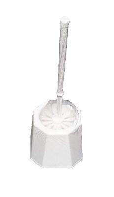 WC-Garn.TOPF weiß,Rundbürste